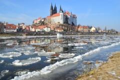 Eiszeit auf der Elbe in Meißen (Vivien Trzcionka)